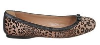 ALAÏA Alaia Pony Hair Leather Trim Leopard Print Brown / Black Flats