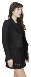 ALAÏA Azzedine Alaia Wool Cut Out Maestro Suit Jacket Trench Dress Pea 386 Pea Coat