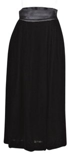 Albert Nipon Womens Velvet Formal Skirt Black