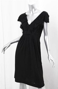Alberta Ferretti short dress Black Wool on Tradesy