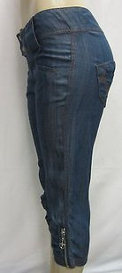Alberto Makali Denim Blue 100 Capri/Cropped Pants Blues