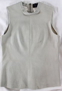 A.L.C. Leather Nude Sleeveless Na Top