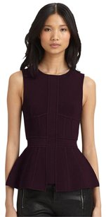 A.L.C. Peplum Edgy Chic Stretchy Top Burgundy
