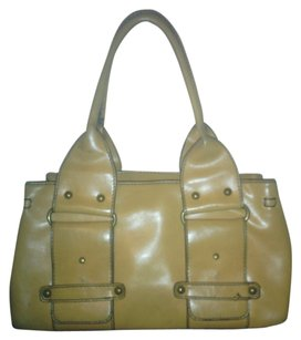 Aldo Vintage Leather Satchel Tote in Mustard Yellow