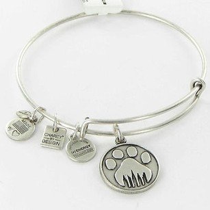Alex and Ani Alex Ani Cbd11pwo9rs Paw Prints Expandable Ewb Bracelet Russian Silver