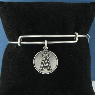 Alex and Ani Alex Ani Los Angeles Angels Logo Charm Expandable Bracelet Russian Silver