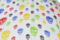 Alexander McQueen Authentic Alexander McQueen 100% Silk Multicolored Skulls Scarf/Wrap