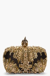 Alexander McQueen Black Gold Clutch