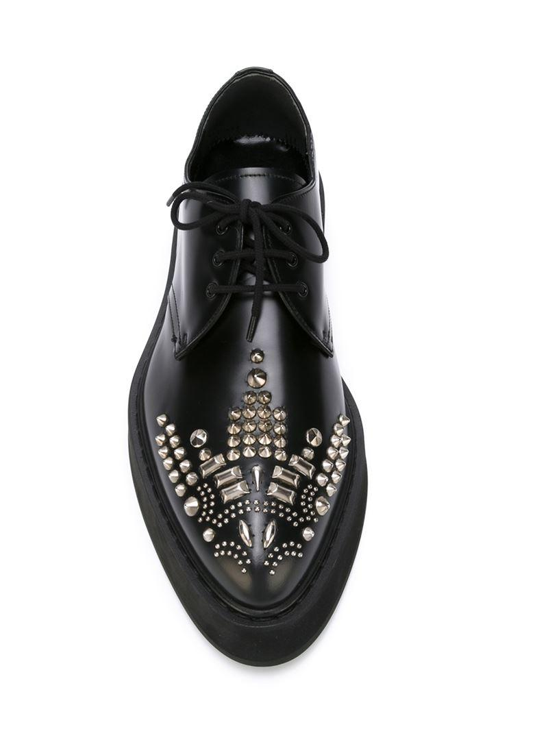 Free Shipping Affordable studded lace up shoes Alexander McQueen Buy Cheap Classic rPCS9