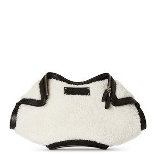 Alexander McQueen White And Black Clutch