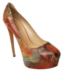 Alexandre Birman Multicolor Orange Pumps