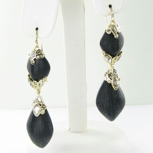 Alexis Bittar Alexis Bittar Earrings Crystal Lace Black Lucite 10k Y Gold