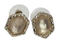 Alexis Bittar Champagne Lucite + Rhinestone Earrings