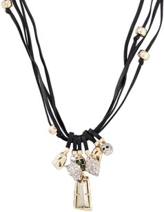 Alexis Bittar Elements Multi-Strand Leather Cord Necklace