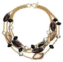 Alexis Bittar NEW! Alexis Bittar Imperial Gold Lucite Crystal Lace Multi Strand Necklace