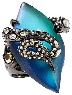Alexis Bittar NEW! Alexis Bittar 'Lucite Imperial Noir' & Crystal Lace Snake Ring