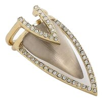 Alexis Bittar NEW! Alexis Bittar Warm Gray Lucite Crystal Chevron Cocktail Ring
