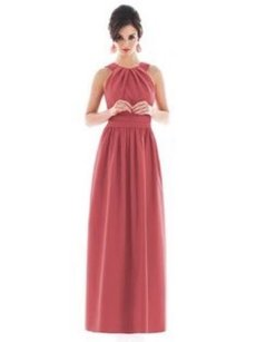 Pink Maxi Dress by Alfred Sung Candy Coral D493 Maxi 0