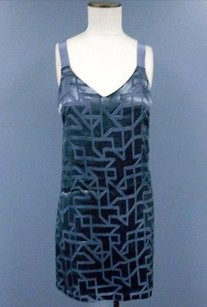 Alice & Trixie short dress Gray And Silk Sleeveless Geo Patterned Shift 3517a on Tradesy