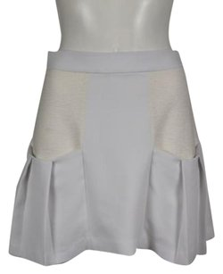 Alice + Olivia Womens Color Block Above Knee Casual Skirt White
