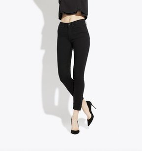 Alison Ayres Ayr The Zippy Jet Black Denim Skinny Jeans