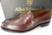 Allen Edmonds Randolph Burnished Burgundy Penny Loafers Mens Shoes C