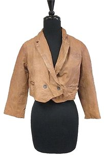 AllSaints Cropped Leather Tan (vegetable dyed) Jacket