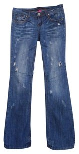 Almost Famous Distressed Boot Cut Jeans-Distressed