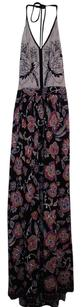 mixed pattern Maxi Dress by Altar'd State Maxi Scoop Back Embellished Halter