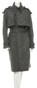 Altuzarro Tweed Herringbone Wool Fall Trench Coat