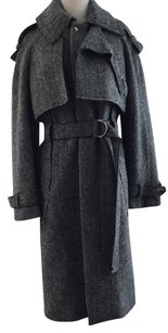 Altuzarro Tweed Herringbone Wool Fall Winter Trench Coat