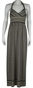 Alyn Paige Womens Printed Halter Casual Full Length Sheath Dress