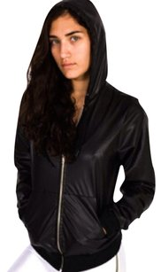 American Apparel Leather Faux Leather Motorcycle Jacket