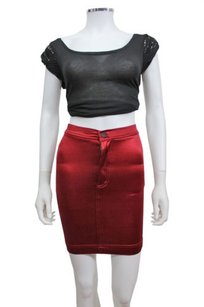 American Apparel Disco Skirt Cranberry