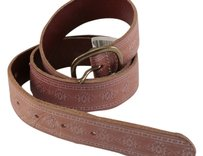 American Eagle Outfitters American Eagle Vachetia Brown Belt Genuine Embossed SIZE LARGE