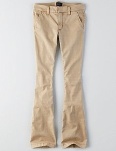 American Eagle Outfitters Flare Pants Sand