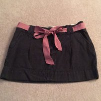 American Eagle Outfitters Mini Skirt navy with pink pinstripes