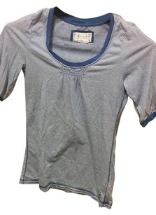 American Eagle Outfitters Top Blue White