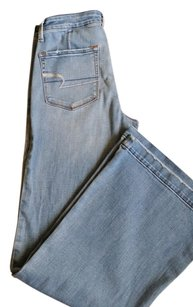 American Eagle Outfitters Trouser/Wide Leg Jeans-Light Wash