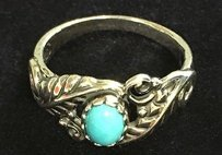 American West American West Sleeping Beauty Turquoise Floral Ring B3290 In Box