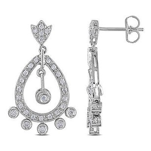 Amour Amour 14k White Gold 12 Ct Tdw Diamond Dangle Earrings H-i I1-i2