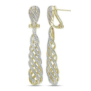 Amour Amour 14k Yellow Gold 1 Ct Tdw Diamond Swirl Drop Earrings G-h Si1-si2