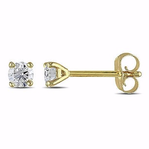 Amour Amour 14k Yellow Gold 14 Ct Tdw Certified Diamond Stud Earrings G-h I1-i2 Igl