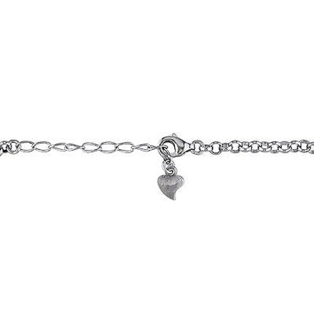 Amour Amour Sterling Silver 2.41 Ct Tgw Cubic Zirconia Charm Bracelet 8.25