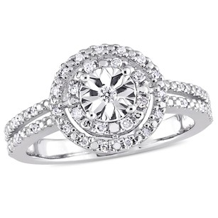 Amour Sterling Silver 15 Ct Tgw Diamond Double Halo Engagement Ring H-i I3