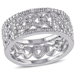 Amour Sterling Silver 18 Ct Tdw Diamond Bridal Ring Set G-h I2-i3