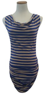 Amour Vert short dress Beige and Blue on Tradesy