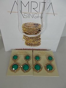Amrita Singh Amrita Singh Faye Turq Pachac Crystal Two Tier Drop Earrings Erc 800