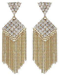 Amrita Singh Amrita Singh Karina Fringe Gold Crystal Earrings Erc 1669