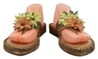 Andre Assous Andie Womens Tan Thong Tan, Brown, Green, Yellow, Pink Sandals